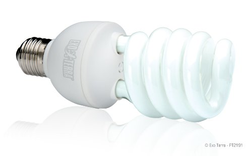 Exo Terra Repti-Glo 2.0 Compact Fluorescent Full Spectrum Terrarium Lamp, 26-Watt (Natural Light) (Lamp Fluorescent Uvb Compact)