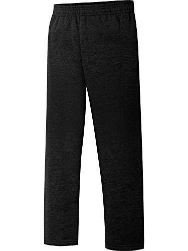 Hanes Big Boys' Eco Smart Fleece Open Bottom Pant, Ebony, XX-Large