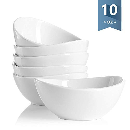 - Sweese 1106 Porcelain Bowls - 10 Ounce for Ice Cream Dessert, Small Side Dishes - Set of 6, White