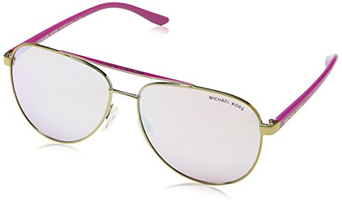 Michael Kors Womens Hvar Sunglasses (MK5007) Rose Gold/Pink Metal - Non-Polarized - - Kors Sunglasses Michael Polarized