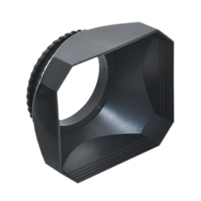 JJC 58mm Screw-in DV Camcorder Square Lens Hood with Cap and Strap LH-DV58B