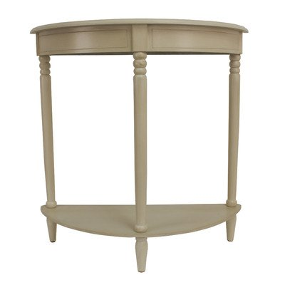 Simplicity Half Moon Console Table in Antique white Finish