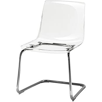 Ikea TOBIAS Chair, Clear, Chrome Plated