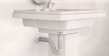 6//4 Durchmesser /Ø 40//50 mm Dehnbar von 390-865 mm aus Kunststoff AQUASHINE Flexibler Ablaufschlauch f/ür K/üchensp/ülen und Sp/ülbecken R/öhren-Siphon Geruchsverschluss Geruchsverschluss Flexibel Siphon