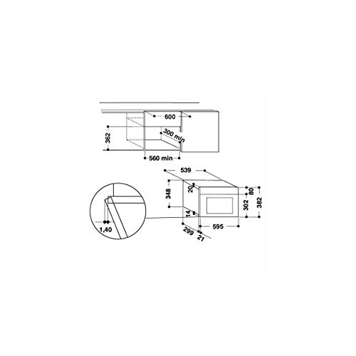 Whirlpool AMW 439 WH Integrado 22L 750W Blanco - Microondas ...
