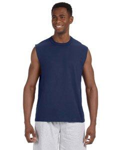Men's sleeveless HiDensi-T t-shirt. (J Navy) (Medium)