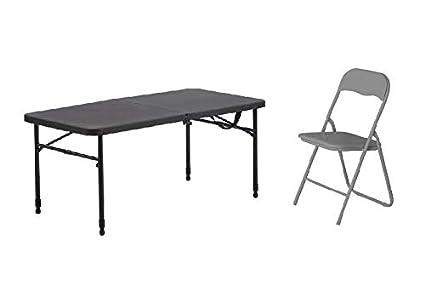 Groovy Amazon Com Mainstay 40 Fold In Half Table In Rich Black Frankydiablos Diy Chair Ideas Frankydiabloscom