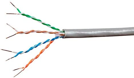 50FT CAT6A 10G Solid Bare Copper Bulk Cable