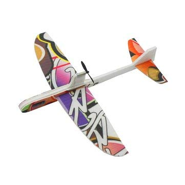 RC Toys & Hobbies RC Airplane - 290mm Wingspan Material Electric Throwing Free-flying Glider Airplane Model - Colorful - ()