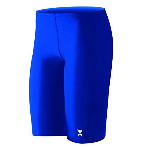 Men's TYReco Solid Jammer Swimsiut, Royal, 28