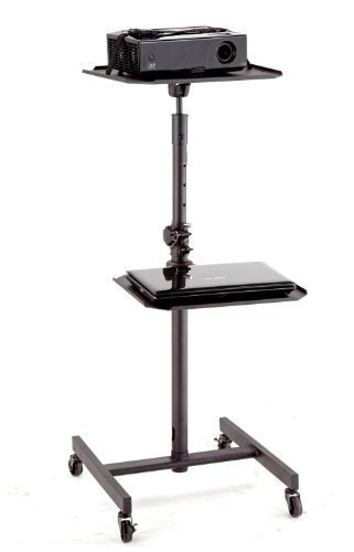 Elitech LCD DLP Projector AV Cart Stand with 4 Casters