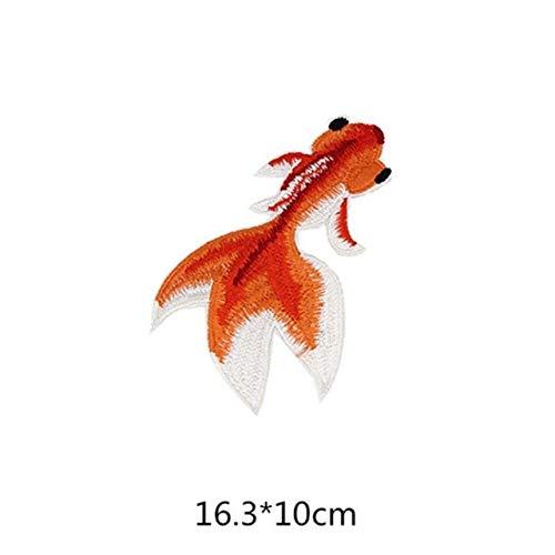 Shoppy Star 1 Unids Japón Gold Fish Animal Tatoo Lady Rider Chaqueta Camiseta Parche Coser Hierro en Signo de Insignia...