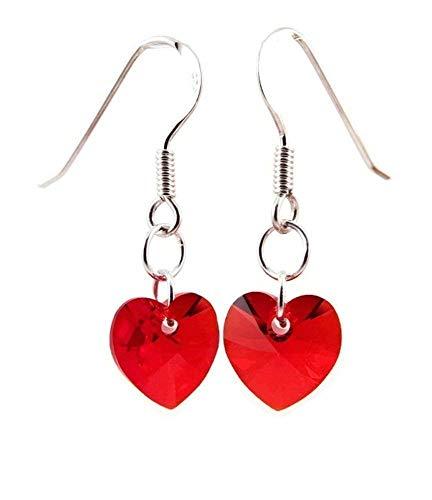 10 best sterling silver heart earrings red