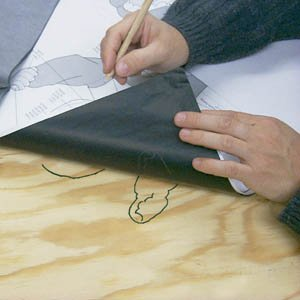 2 Large Sheets of 34x 22 Carbon Woodworking Paper Tracing by Cedar Rock Enterprises Cedar Rock