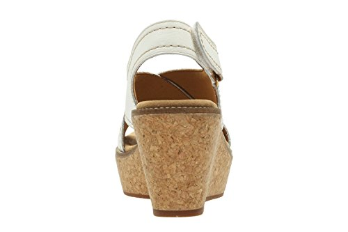CLARKS Clarks Womens Shoe Aisley Tulip White Leather 7.0
