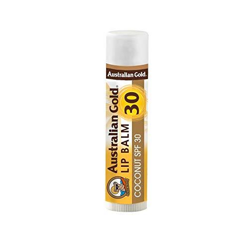 Australian Gold SPF 30 Coconut Lip Balm, White, 0.15 Fluid Ounce