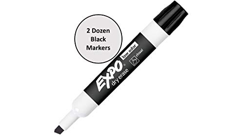 Expo Low Odor Dry Erase Markers Assorted Black, Blue, Green, Red - 2 Dozen of Each Color, 96 Markers Total by SAN (Image #1)