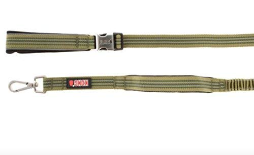 by Barker Brands Inc. Kong Traffic Handle Padded Bungee Leash 4' & 6' (6', Green)