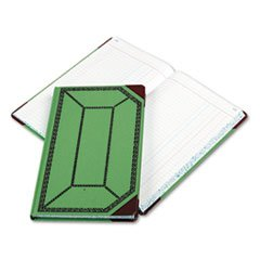 ** Record/Account Book, Journal Rule, Green/Red, 300 Pages, 12 1/2 x 7 5/8 **