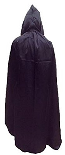P's-JAPAN Full Length Hooded Cloak Velvet Satin Cape (170cm/67