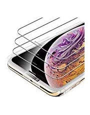 Syncwire iPhone XS/X Tempered Glass Screen Protector - [3 Pack] 0.33mm Thickness 2.5D 9H Premium Scratch Resistant Protector Film with Installation Kit - Face ID Protective