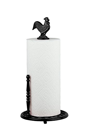 (Trendy-Product Robust Cast Iron Classic Design Heavy Weight Iron Cast Counter Top Paper Towel Holder Make Tearing Off Paper Easy (Black))