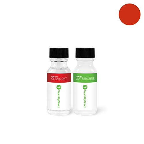 TouchUpDirect Exact Match Automotive Touch Up Paint Compatible with Mitsubishi Sunset Pearlescent (M03) Jar - Essential -