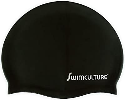 Ultra Premium Silicone Swim Cap for Men and Women to Keep Your Hair Dry - Covered by Swim Culture's Industry Leading Lifetime Warranty - Recreational, Competitive and Fitness Swimmers - Lightweight and Comfortable for Adults, Children, Boys and Girls - Gr