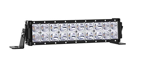 Autofeel LED Light Bar, Amber and White Dual Color 10 inch 1