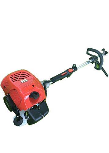 HanSemay 2.3HP Gasoline Engine Sweeper, 2-stroke Manual Sweeper Air-cooled engine EPA engine design: