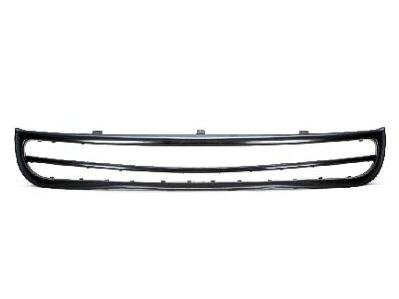 FRONT BUMPER GRILLE Volkswagen Beetle MOLDING; FOR USE WITHOUT FOG LIGHTS; BLACK [HAS CENTER BAR]. (GRILLES DO NOT COME WITH MANUFACTURER EMBLEMS / LOGOS. THEY ARE TRADEMARK PROTECTED.)