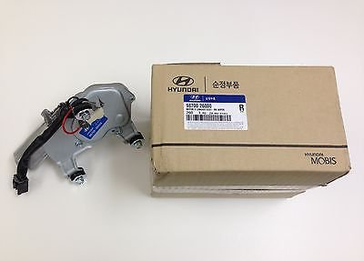 Genuine Hyundai 98700-26000 Wiper Motor and Linkage Assembly, (Rear Wiper Motor Assembly)