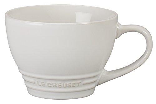 (Le Creuset Stoneware Bistro Mug, 14 oz, White)