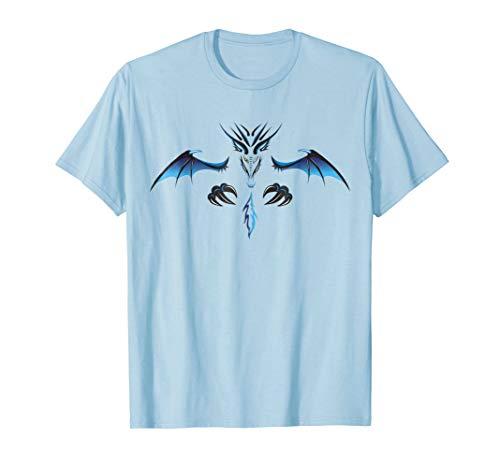 Mens Dragon Demon Halloween Costume T-shirt Medium Baby Blue