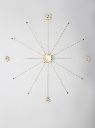 Delightful Kare Wall Clock Like Umbrella, Gold Photo