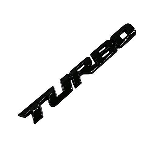Tailgate Sill - lyna2D6 3D Car Styling Metal Turbo Letters Emblem Sticker Rear Tailgate Badge Decor - Black