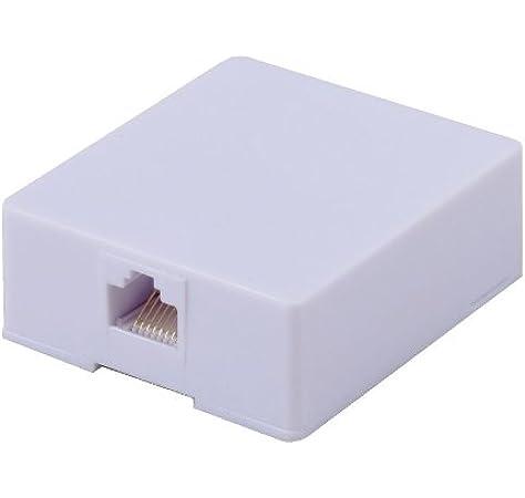 Amazon.com: RCA RJ45 Surface Mount Jack - White (TPH553R): Computers &  AccessoriesAmazon.com