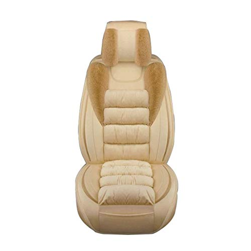 TD Car Seat Cover Four Seasons All Surrounded by Cushions Female Driver Car Seat Cover High-end Car Seat Cover Comfortable (Color : Beige)