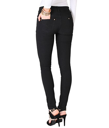 Donna Jeans Krisp Pantaloni 9007 Caldi Denim Casual Schwarz dFwwB