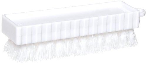 """Rubbermaid en plastique FG9B5800 Mains et Ongles Pinceau, poils en polypropylène, 0,75 """"Longueur Trim, 4.75"""" Longueur, Blanc"""