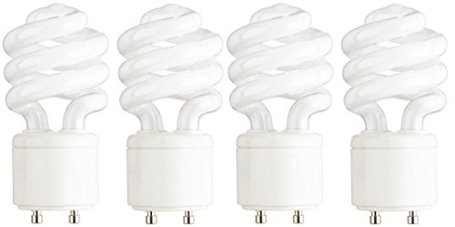 (Feit Electric BPESL13T/GU24/2 900 Lumen Soft White Mini Twist GU24 CFL, Uses Up To 78% Less Energy, Compact Fluorescent, Life Up To 10000 Hours, 2 Blister Packs with 2 Bulbs each (4 Bulbs Total))