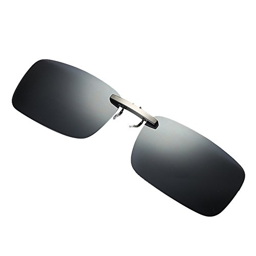 Fashion Sunglaess, Detachable Night Vision Lens Driving Metal Polarized Clip On Glasses Sunglasses