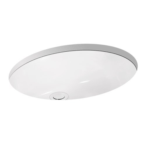 Miseno MNO1714OU 17-3/8'' Undermount Bathroom Sink with Overflow (Mounting Clips Included)