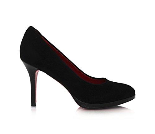 Diamond Heels Women's Wildleder Pumps Schwarz MIT 9cm Stilettoabsatz und Roter Laufsohle Pump Black Size: 3 UK aCtuxIQQ