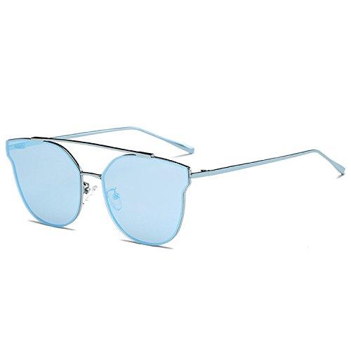 Cat Eye Sunglasses Women Classic Rose Gold Frame Sun Glasses Flat Mirror Oculos