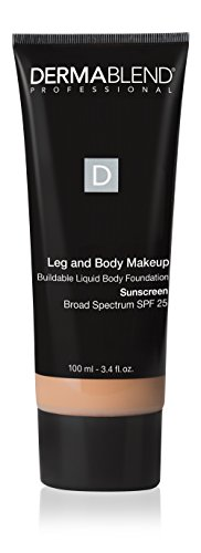 Dermablend Leg and Body Makeup Foundation with SPF 25, 25W Light Sand, 3.4 Fl. Oz.