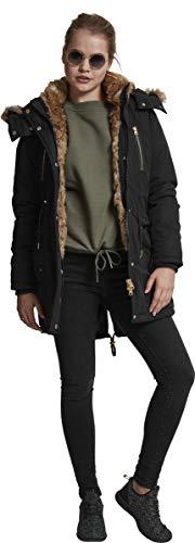 Ladies 7 Classics Noir Femme Imitation Parka Urban Fur S5n0qwwz