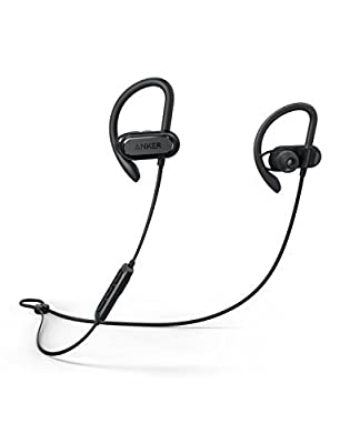 Soundcore Spirit X Sports Earphones by Anker, with Wireless Bluetooth 5.0, 12-Hour Battery, IPX7 SweatGuard Technology, Secure Fit for Sport and Workouts