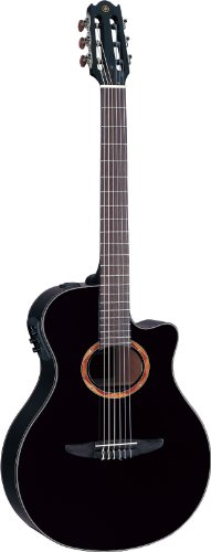 Yamaha NTX700BL Acoustic Electric Classical Guitar, Black