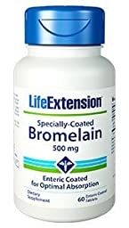 Life Extension - Specially-Coated Bromelain - 500 Mg - 60 Gels (Pack of 3)